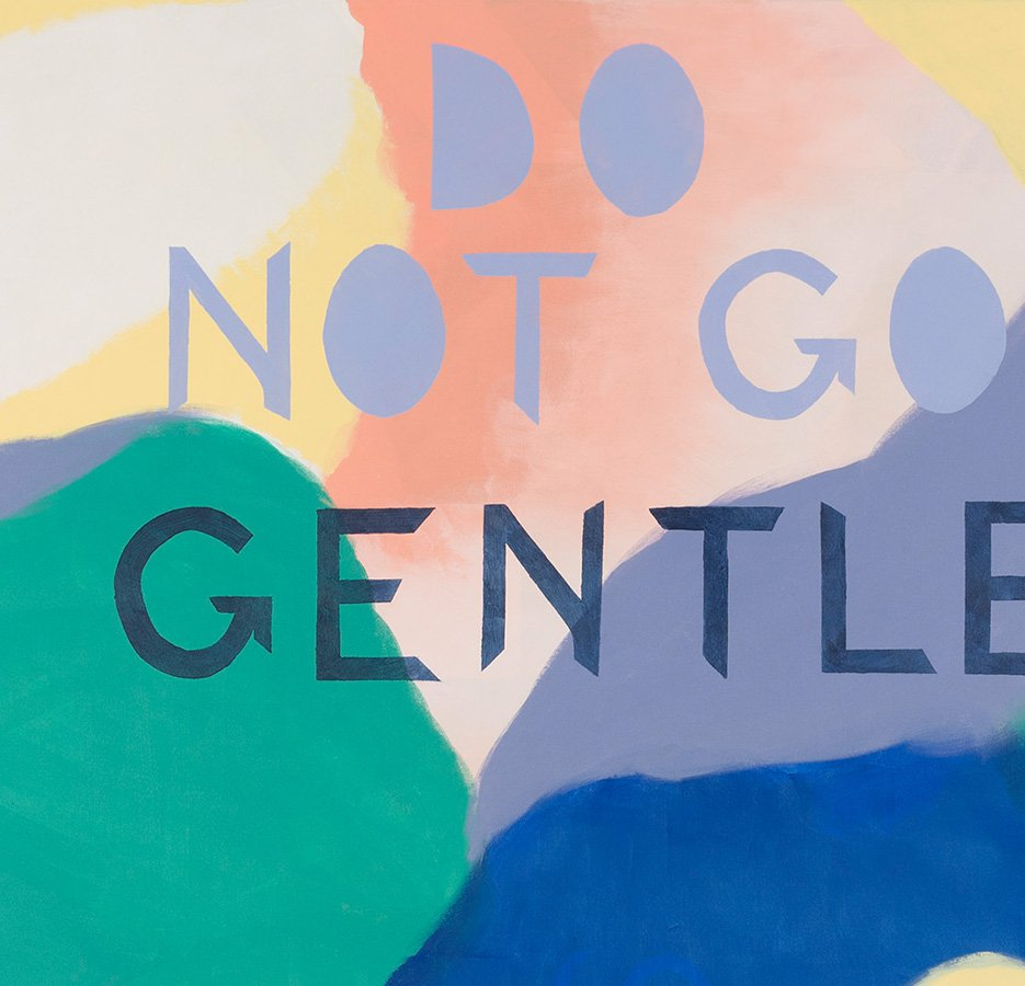 Detail of the painting 'Do not go gentle into that good  night' (2018)